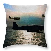Kates On The Prowl - Oil Throw Pillow