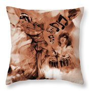 Kathak Dance On Tabla  Throw Pillow