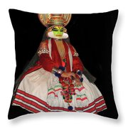 Kathakali Dancer Throw Pillow