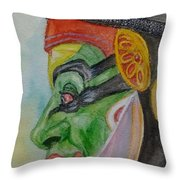 Kathakali Dancer Throw Pillow