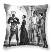 Katharina Kepler, Alleged German Witch Throw Pillow