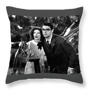 Katharine Hepburn Cary Grant Bringing Up Baby 1938-2015 Throw Pillow