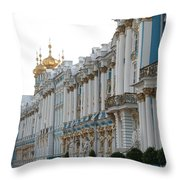 Katharinen Palace And Onion Domes - Russia Throw Pillow