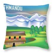 Kathmandu Nepal Horizontal Scene Throw Pillow