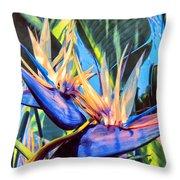 Kauai Bird Of Paradise Throw Pillow