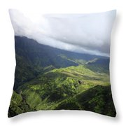 Kauai By Helicopter Throw Pillow