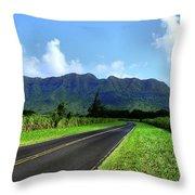 Kauai Countryside Throw Pillow