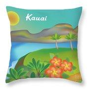 Kauai Hawaii Horizontal Scene Throw Pillow