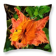 Kauai Hibiscus Throw Pillow