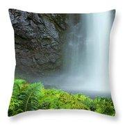 Kauai Inland Falls Throw Pillow