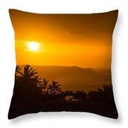 Kauai North Shore Throw Pillow