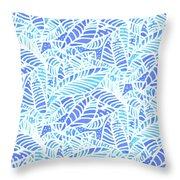 Kaua'i Ocean Leaves Throw Pillow