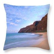 Kauai, Polihale Beach Throw Pillow