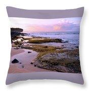 Kauai Tide Pools At Dawn Throw Pillow