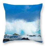 Kauai Waves Throw Pillow