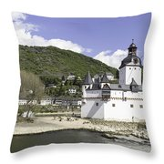 Kaub And Burg Pfalzgrafenstein Throw Pillow