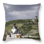 Kaubs Two Castles Throw Pillow