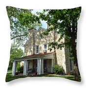 Kaw Mission, Council Grove, Kansas Throw Pillow