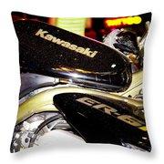 Kawasaki Throw Pillow by Stelios Kleanthous