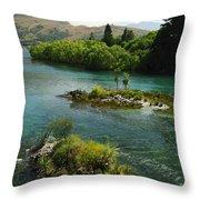 Kawerau River Throw Pillow