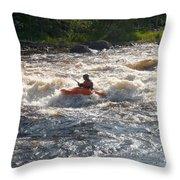 Kayak 1 Throw Pillow