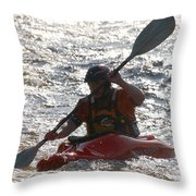 Kayak 2 Throw Pillow