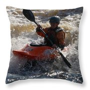 Kayak 7 Throw Pillow