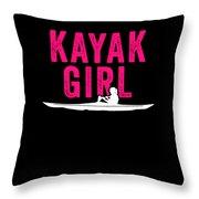 Kayak Kayak Girl Pink Gift Light Throw Pillow