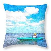 Kayak Lesson Throw Pillow