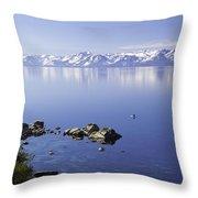Kayak On Lake Tahoe Throw Pillow