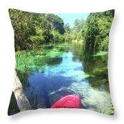 Kayak On Weeki Wachee Springs Throw Pillow