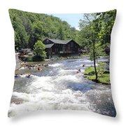 Kayak Practice Waters Throw Pillow