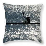 Kayak Zoom Throw Pillow