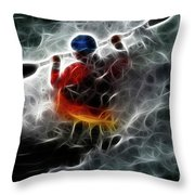Kayaking In The Zone 3 Throw Pillow