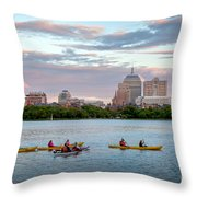 Kayaking On The Charles Throw Pillow