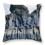 Kayaking Past Cliffs Throw Pillow