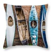 Kayaks 4 Throw Pillow