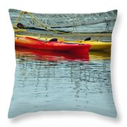 Kayaks Throw Pillow
