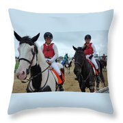 Kaymarie Kreidel And Lisa Mcklveen - Timonium Throw Pillow