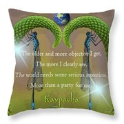 Kaypacha - December 28, 2016 Throw Pillow