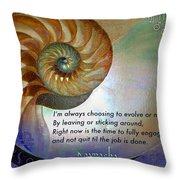 Kaypacha's Mantra 10.14.2015 Throw Pillow