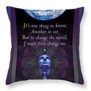 Kaypacha's Mantra 4.7.2015 Throw Pillow