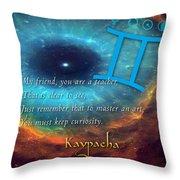 Kaypacha's Mantra 6.10.2015 Throw Pillow
