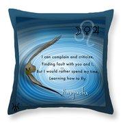 Kaypacha's Mantra 6.17b.2015 Throw Pillow