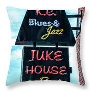 Kc Blues Throw Pillow