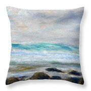 Ke' E Wave Throw Pillow