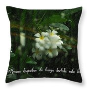 Keajaiban Throw Pillow