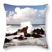 Keanae Peninsula Throw Pillow