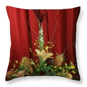 Keawalai Still Life Tropical Flowers Throw Pillow