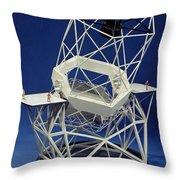 Keck Observatorys Ten Meter Telescope Throw Pillow